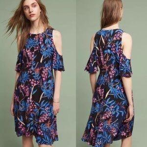 Anthro Maeve Elia Cold Shoulder Floral Dress